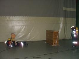 Atemschutzübungen am 28. März / 04. April 2007 in der Turnhalle der Verbandsschule