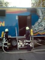 "Atemschutzübung am 04. September 2002 - Brandcontainer ""Fire Dragon"""
