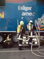 "Atemschutzübung am 04. September 2002 - Brandcontainer ""Fire Dragon"""