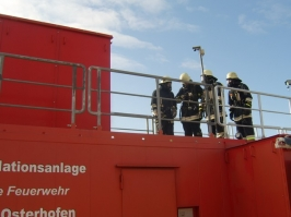 Atemschutzübung in der Brandsimulationsanlage in Osterhofen am 29.03.2008