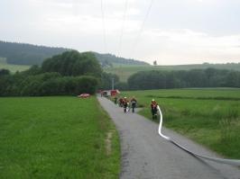 Großübung in Spechting am 02.06.07 (Ausrichter: FF Oberötzdorf)