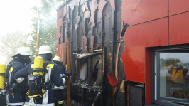 Brand an der Mittelschule am 11.06.2015