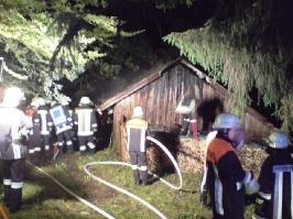 Brand eines Stadls am 15.06.2010 in Kailing