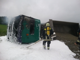 Lkw-Brand in Leizesberg am 05.07.2011