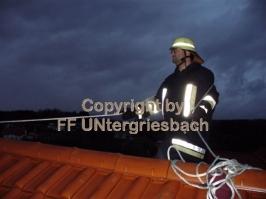 """Sturm """"Kyrill"""" - Kamin droht abzustürzen (19.01.2007)"""