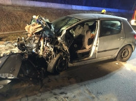 Verkehrsunfall zwischen Obernzell und Erlau am 26.02.2018_1