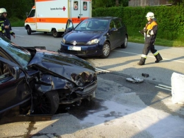 Verkehrsunfall beim Sportplatz am 29.05.2010