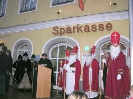 Nikolauseinzug am Marktplatz am 05.12.2007