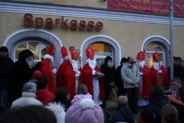 Nikolauseinzug am Marktplatz am 05.12.2008