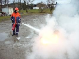 Feuerlöscherübung am 11.04.2013